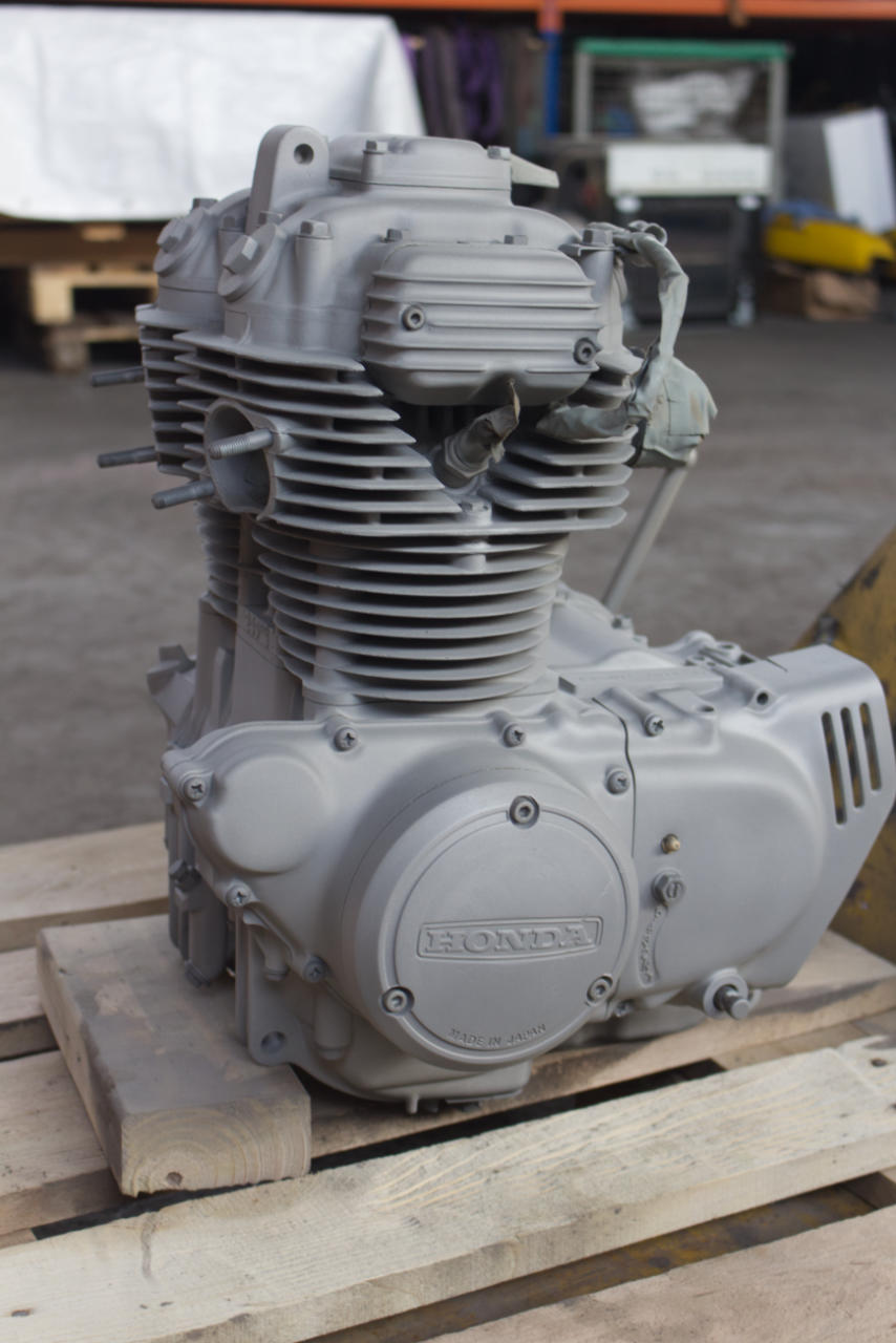 Sandstrahlen - Motorradmotor - nachher
