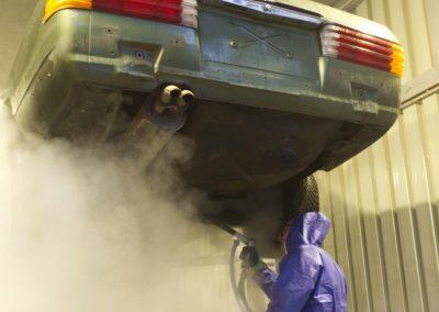 Trockeineisreinigung Karosserie, Unterboden und mehr